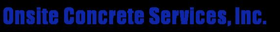 Onsite Concrete Services
